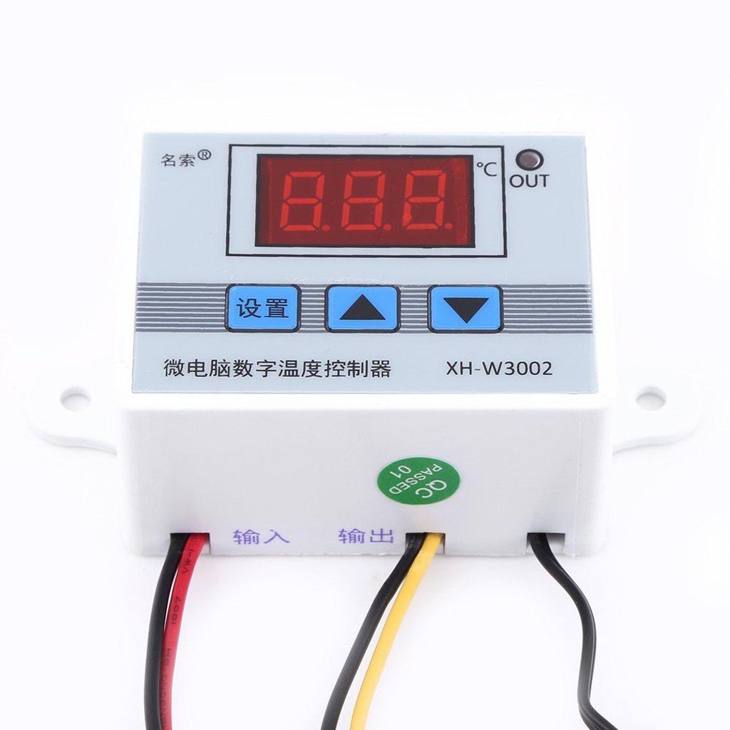 50℃ /à 110℃ MagiDeal Contr/ôleur de Temp/érature Num/érique Thermocouple avec Capteur de 220V