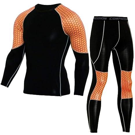 ¡Gran promoción!Rovinci Hombres Elásticos Casual Fitness T-Shirts + Pantalones de Secado rápido Tops Pantalones Deportes Correr Trajes: Amazon.es: Ropa y ...