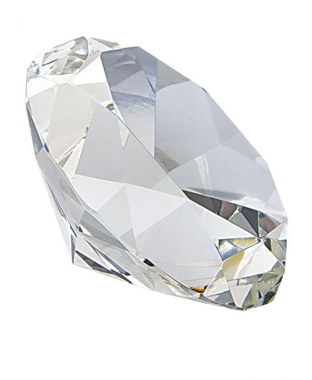 Ten Fermacarte vetro diamante grande - cod. EL35336 - Lun.9, 8 cm - Lar.9, 8 cm - Alt.6 cm by Varotto & Co.