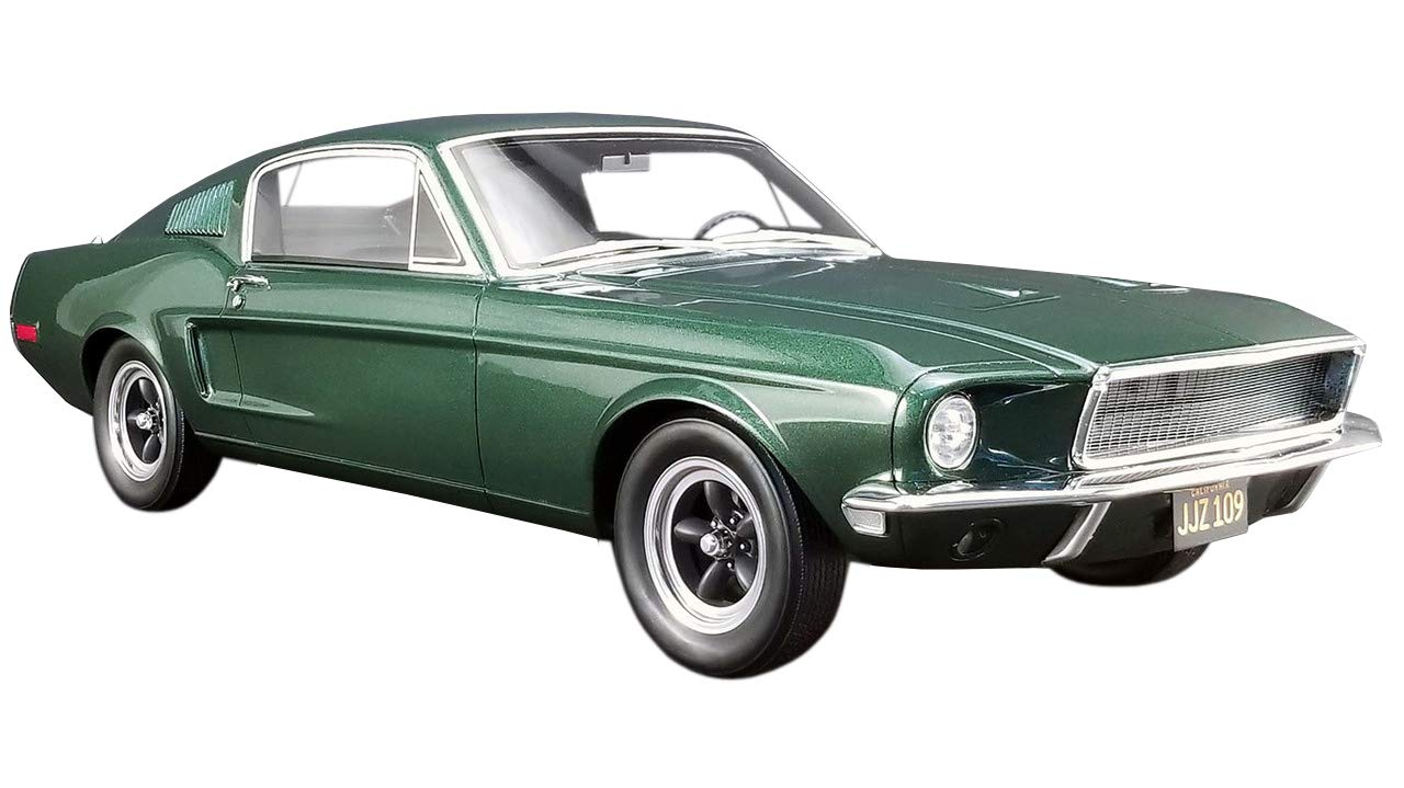 Amazon com 1968 ford mustang gt fastback highland green bullitt 1968 movie 1 12 model car by greenlight for acme us011 toys games