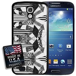 Kaleidoscope Geometric Black White Stripe Pattern Galaxy S4 Hard Case