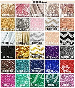 TRLYC 12 by 108-Inch Luxury Glitz Wedding and Party Table Linens Sequin Rectangle Table Runner Colors Are Available