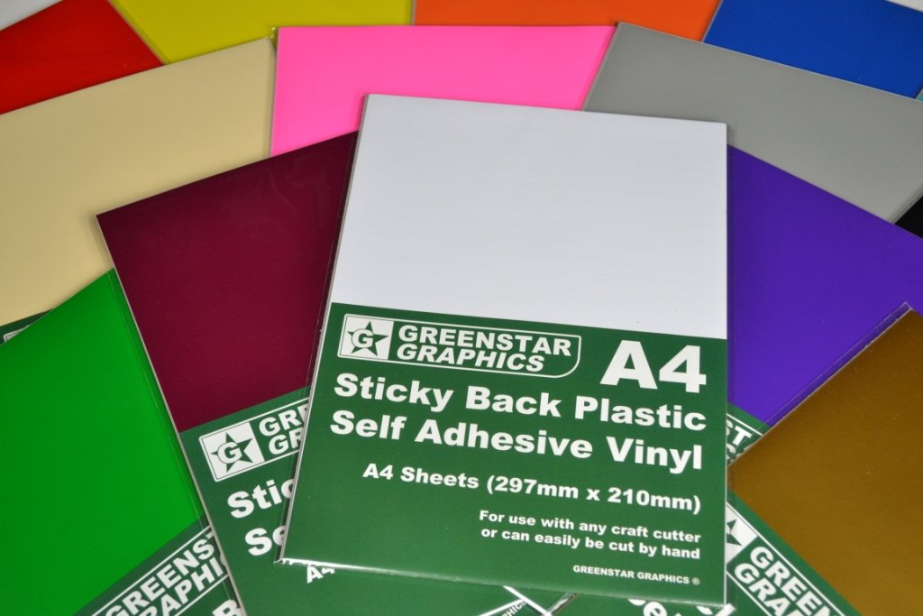 10 X Brown Gloss A4 Vinyl Self Adhesive Sheets Sticky Back Plastic Crafting DIY