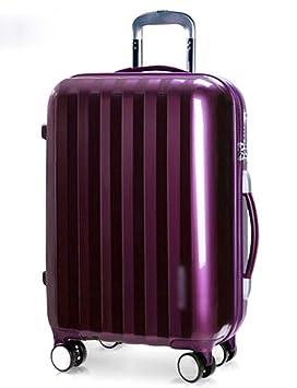 Pequeño ABS Equipaje cáscara Dura para el Recorrido 4, Varilla de Aluminio, Gire la Rueda, Las costumbres Cierre TSA 20 Pulgadas (Color : Purple): ...