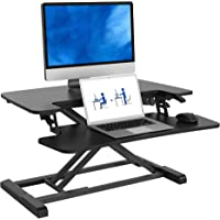 "FlexiSpot Stand Up Desk Converter -28 Standing Desk Riser with Deep Keyboard Tray for Laptop (28"", Black, M7B)"
