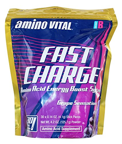 Amino Vital - Fast Charge Amino Acid Energy Boost System Grape Sensation - 30 Pack(s)