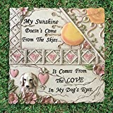 Banberry Designs Pet Memorial Stone - Dog Plaque for Indoor or Outdoor - Garden Stone for the Loss of a Pet - Dog Grave Marker