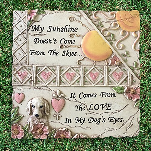 Banberry Designs Pet Memorial Stone - Dog Plaque for Indoor or Outdoor - Garden Stone for the Loss of a Pet - Dog Grave Marker by Banberry Designs