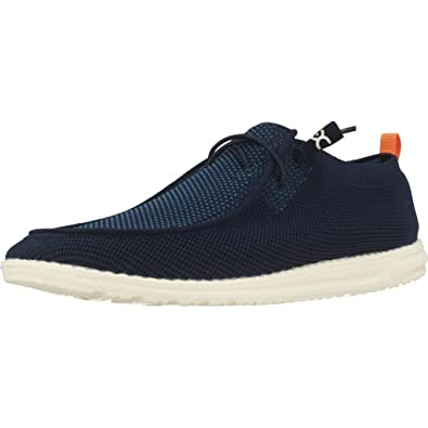 Dude Wally Knit Blue - Mocasines Hombre Azul Talla 40: Amazon.es: Zapatos y complementos