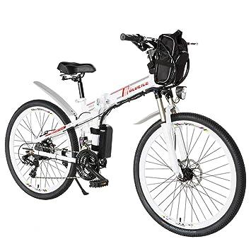 YRWJ 26 Pulgadas De Montaña Bicicleta Eléctrica Plegable 24 DE Velocidad del Vehículo Eléctrico Lineales De