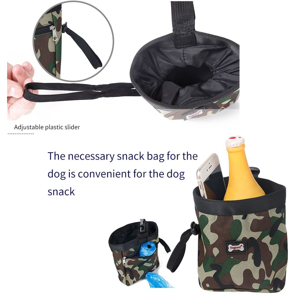 Dog Treat Training Pouch Bag,Snack Reward ,Waist Pocket Pet Feed Pouch, Carry Treats Toys, Poop Bag Dispenser(Green) by Kalining (Image #6)