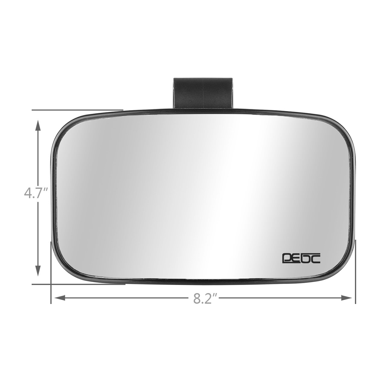 DEDC for 1.75-2 Roll Cage Bar|Adjustable Arm Quad Gear| High Impact Shatter-Proof Tempered Glass Fits Driver and Passenger Side Pack of 2 Wide Rear View Side Mirror for UTV