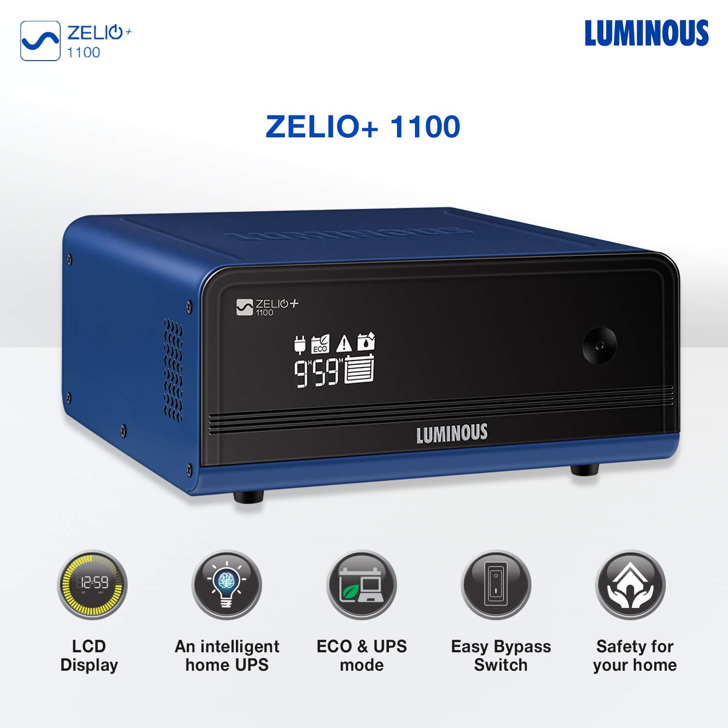 Luminous Zelio+ 1100 Home Pure Sinewave Inverter UPS