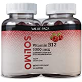 Amazon Brand - Solimo Vitamin B12 3000 mcg - Normal Energy Production and Metabolism, Immune System Support* - 100…