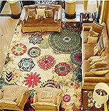 Judy Dre am Bohemian Style Carpet Fashion Home Carpet European Chinlon Antislip Bedroom Rug Boho Living Room Rugs (75''x98'', Style 1)