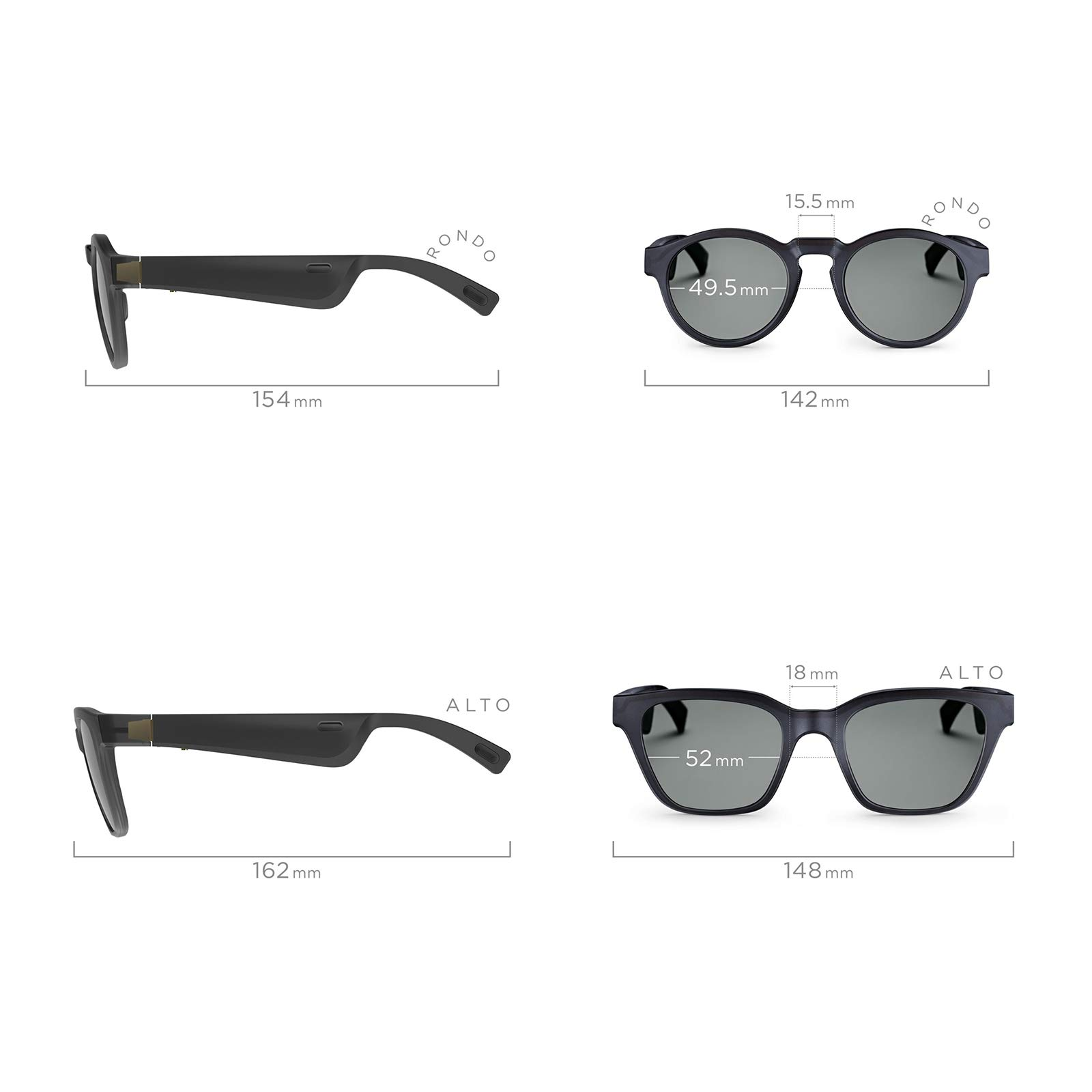 Bose Frames Audio Sunglasses, Alto, Black - with Bluetooth Connectivity by Bose (Image #5)