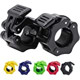 1 Inch Barbell Clamps Lock-Jaw,Quick Release Pair of Locking 1'' Diameter Standard Bar Weight Plates Collar Clips,for Workout