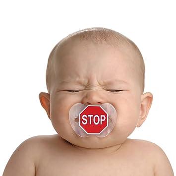Amazon.com: Chill, Baby y señal de stop chupetes Chupete ...