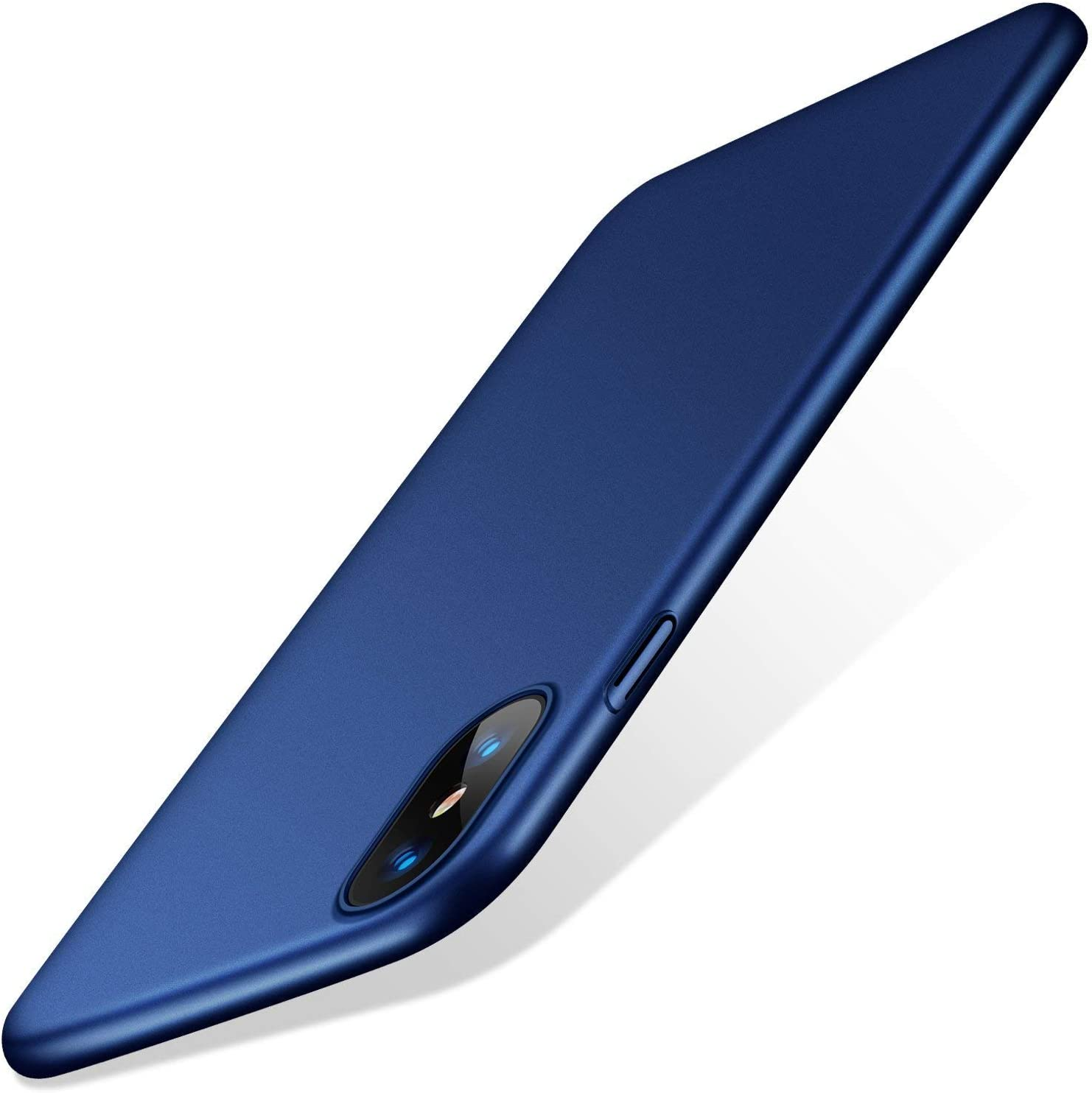TORRAS Slim Fit iPhone Xs Case/iPhone X Case, Hard Plastic PC Super Thin Mobile Phone Cover Case with Matte Finish Coating Grip Compatible with iPhone X/iPhone Xs 5.8 inch, Navy Blue