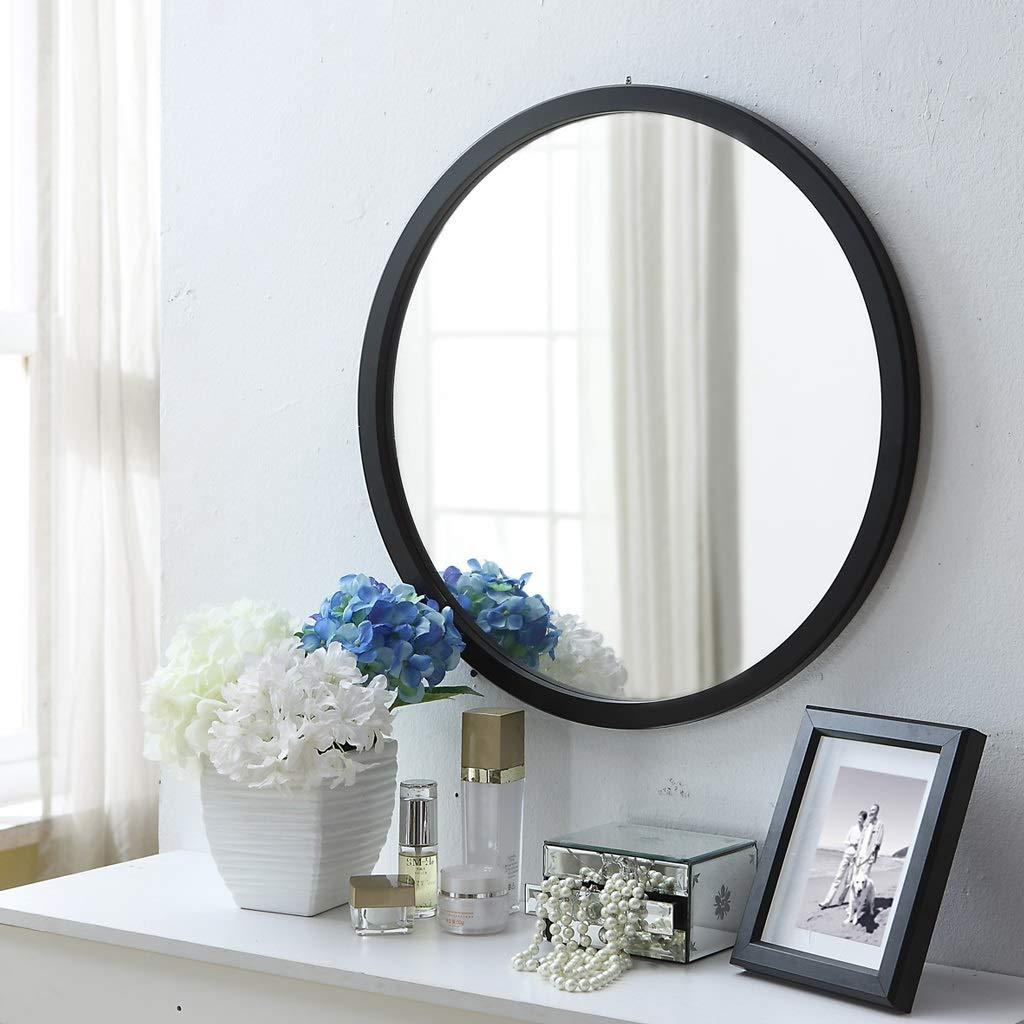 Miroir Mural Miroir et Cadre en Bois Rond Miroir Mural pour Le Salon de la Salle de Canal dentr/ée et Autre Art Mural Moderne Double Couleur : Blanc, Taille : Diameter-30cm
