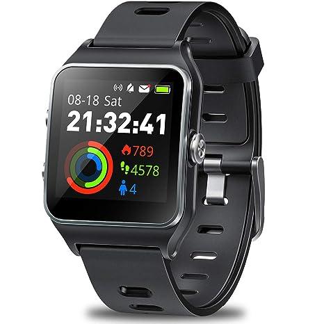 DR.VIVA Reloj GPS para Hombres y Mujeres, Rastreador de Actividad GPS Reloj para Correr Pantalla Táctil Reloj Deportivo Frecuencia ...