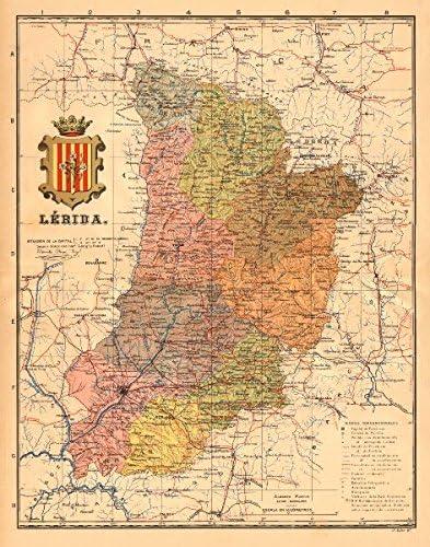 Amazon Com Lerida Lleida Lerida Cataluna Catalunya Mapa