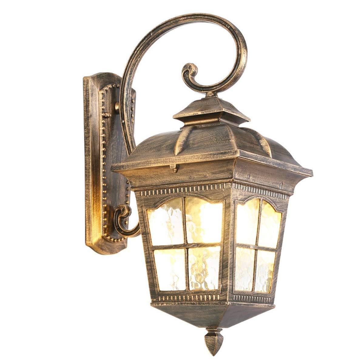 TXDZ Lampade da parete per esterni nordici, Lampade da parete a LED vintage impermeabili Lampade da parete in alluminio di bronzo in bronzo Lampade da parete per esterni da giardino in stile europeo b