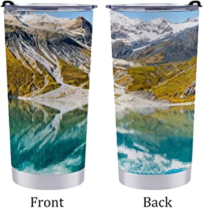20 Car Cup Glacier Bay National Park, Alaska, USA Insulated Tumblers Double Wall Stainless Steel Travel Mug with Lid and Straw for Ice Drink, Hot Beverage