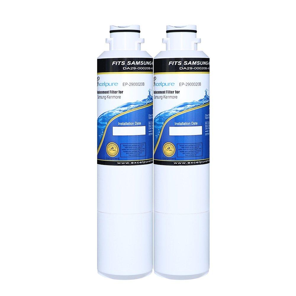 EXCELPURE Samsung DA29-00020B Refrigerator Water Filter Comparable Replacement for Samsung DA29-00020B, DA29-00020A, DA2900020B, HAF-CIN/EXP, 46-9101,HDX FMS-2 - 2 PACK