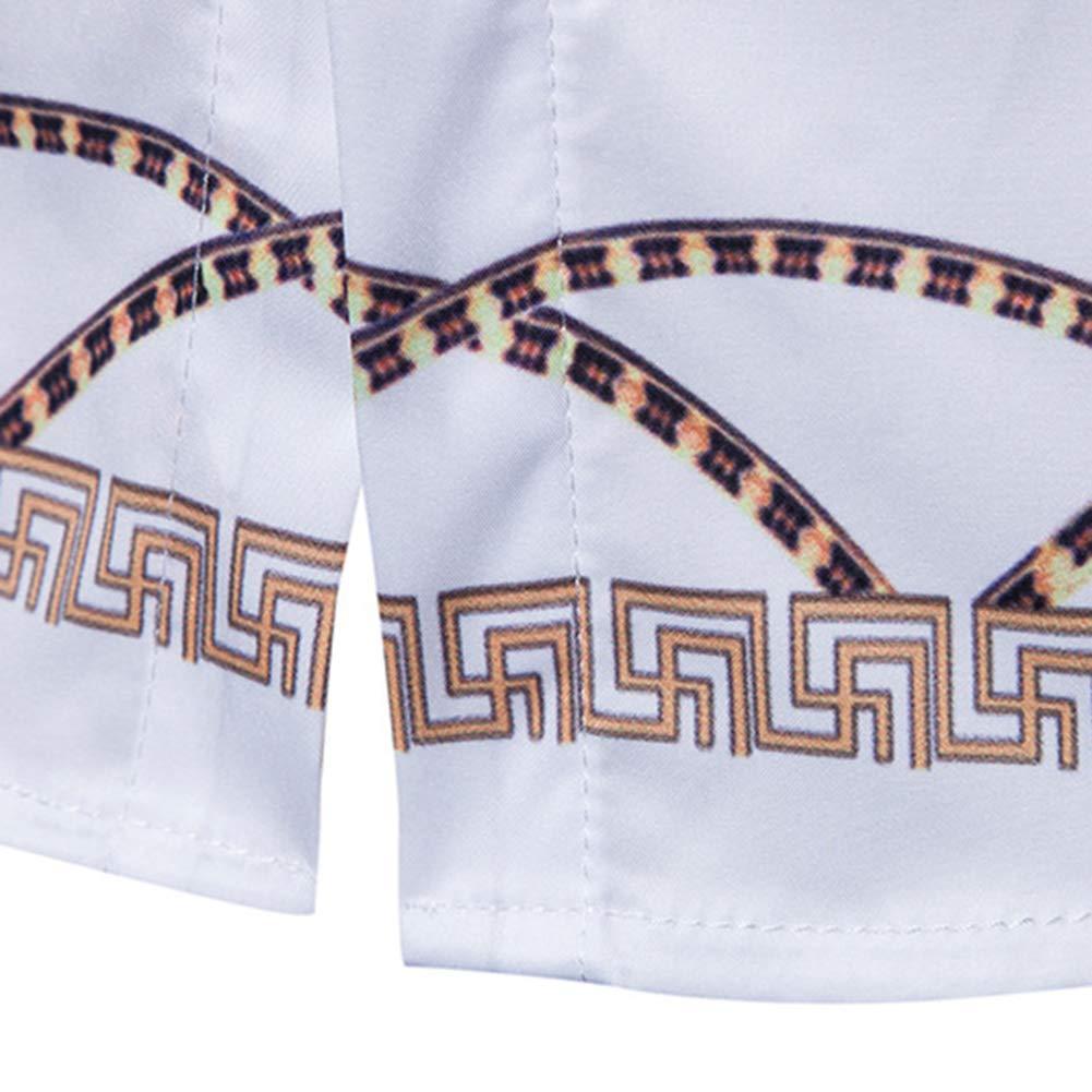 Motif 3D Imprim/é Fonctionnement De Plein Air Hauts,White,M Versaces Manches Longues Coton M/élang/é Yffksse Chemises pour Hommes