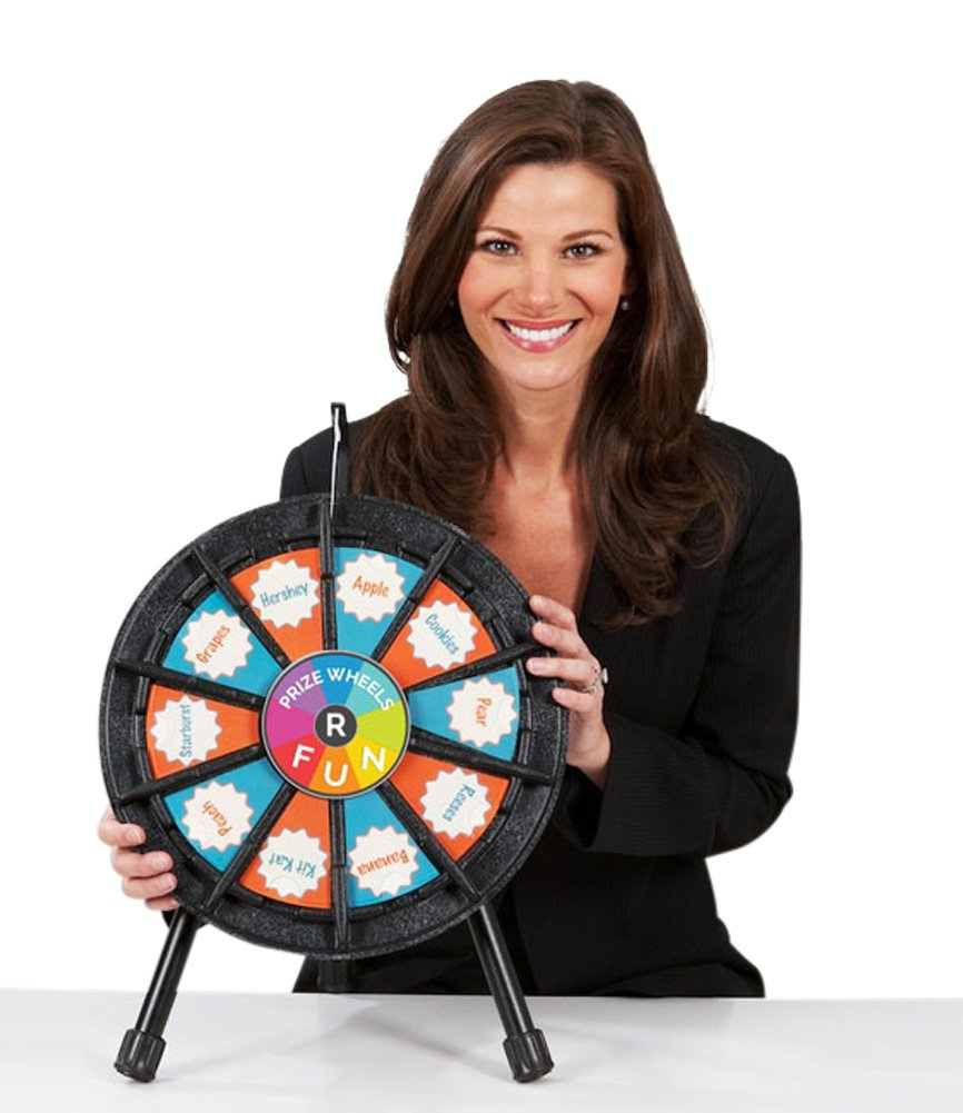 Tabletop Prize Wheel 10 Slots (14 Inch Diameter)