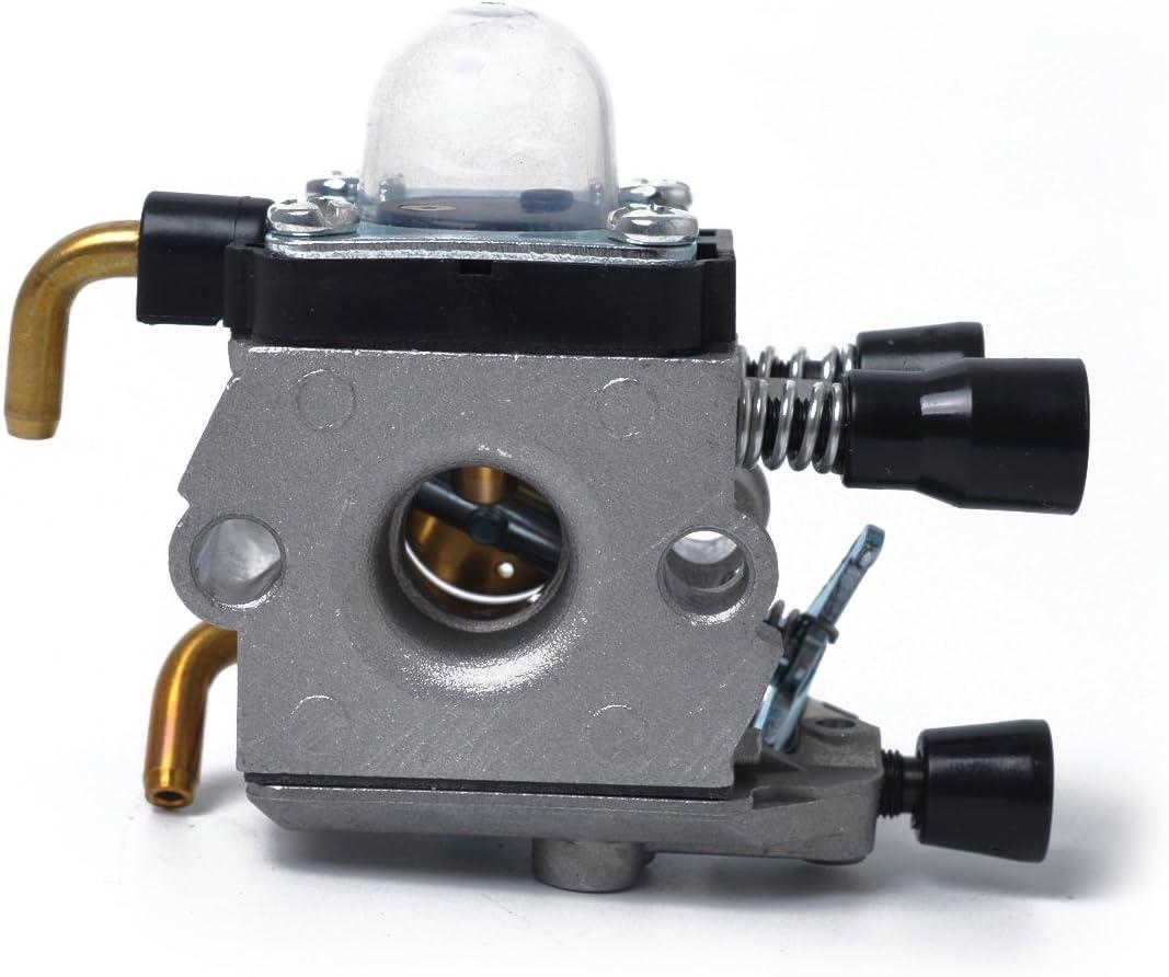 41401200619 Plata UKCOCO Cortac/ésped de Repuesto Carburador Carb para Stihl FS38 FS45 FS46 FS55 FS74 FS75 FS76 FS80 FS85 KM55R