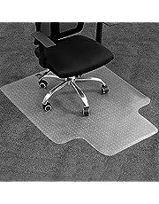 JORAGO Office Chair Mat for Hard Floor, Wood Floor&Carpet Protector Mat for Office Home Anti-Slip Wheel Gaming Chair Mat 120x90cm Transparent