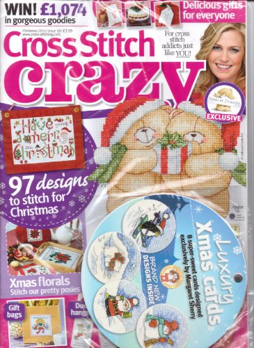 Cross Stitch Crazy magazine. Christmas Cards By Margaret Sherry. #157. 2011. (Cross Stitch Sherry Margaret)