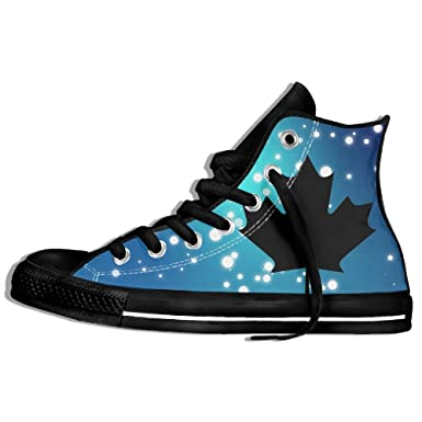 Amazon.com  Canada Maple Leaf Canadian Flag High Top Classic Casual Canvas  Fashion Shoes Sneakers For Women   Men  Clothing ade0f1c3b