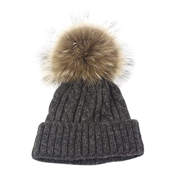 Isuper Il Cappello Invernale di Lana Lavorato a Maglia per i Bambini Regalo  Natale per Ragazzi Cappello Pom Pom  Amazon.it  Abbigliamento 107b2410a9d5