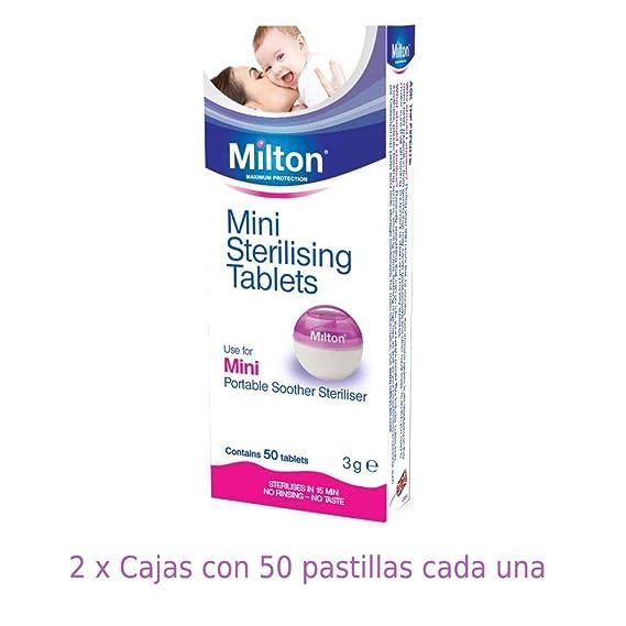 Pastillas Esterilizadoras Mini Milton, 50 unidades - Pastillas para esterilizar y desinfectar la Copa Menstrual Sileu - Ideales para usar con el ...
