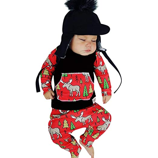 Infant Toddler Baby Girls Boys Christmas Outfits Clothes 0-2 Years Old,Long  Sleeve - Amazon.com: Infant Toddler Baby Girls Boys Christmas Outfits Clothes