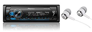 MVH-S310BT Single Din Built-in Bluetooth, MIXTRAX, USB, Auxiliary, Pandora, Spotify, iPhone, Android and Smart Sync App Compatibility Car Digital Media Receiver / FREE ALPHASONIK EARBUDS