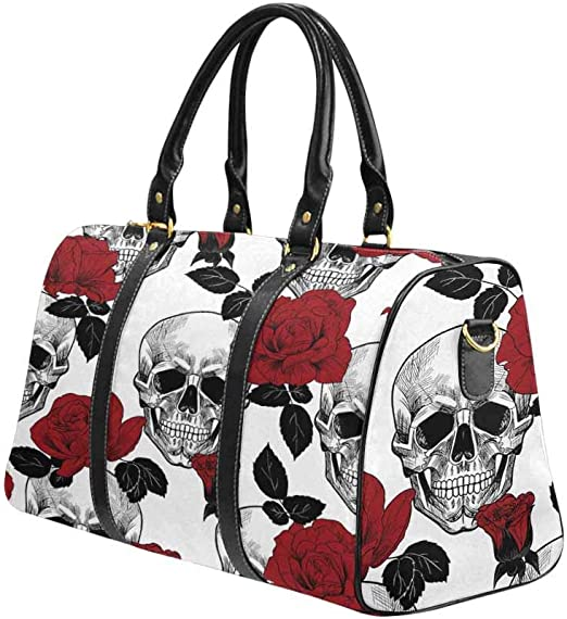 OREZI Luggage Protector,Sugar Skulls Elastic Travel Luggage Suitcase Cover,Washable and Durable Anti-Scratch Case Protective Cover for 18-32 Inches