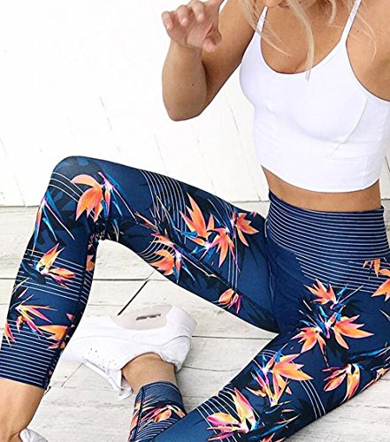 Big Promotion! Women Pants WEUIE Women High Waist Sports Gym Yoga Running Fitness Leggings Pants Athletic Trouser (XL, Blue)