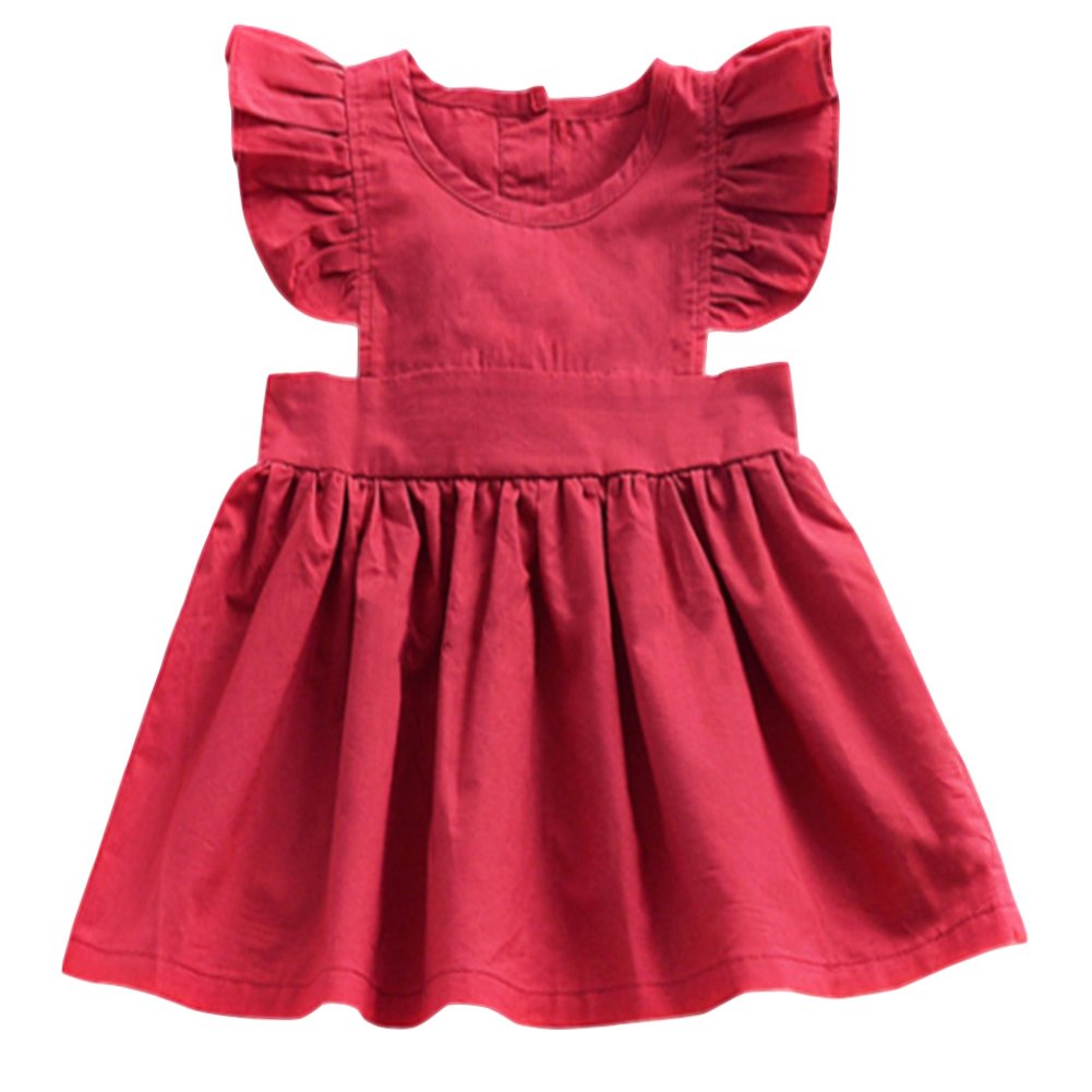 YOHA Baby Girls Ruffle Top Blouse Skirt Toddler Casual Blouse Dress Jumper Dress