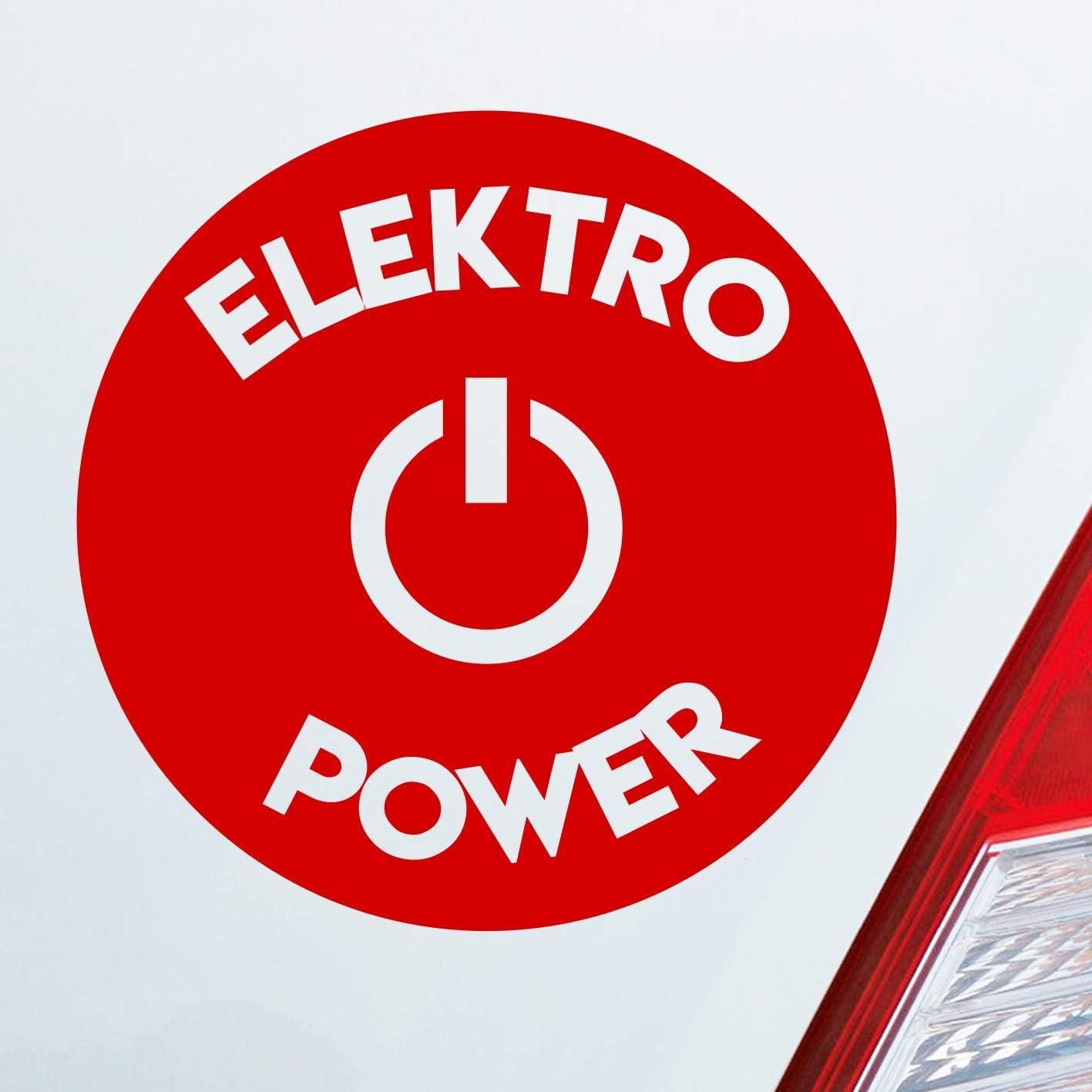 Environ 10 x 10 cm Autocollant pour Voiture. /Énergie /écologique /électricit/é /électrique Autocollant pour Voiture dans Votre Couleur de Votre Choix