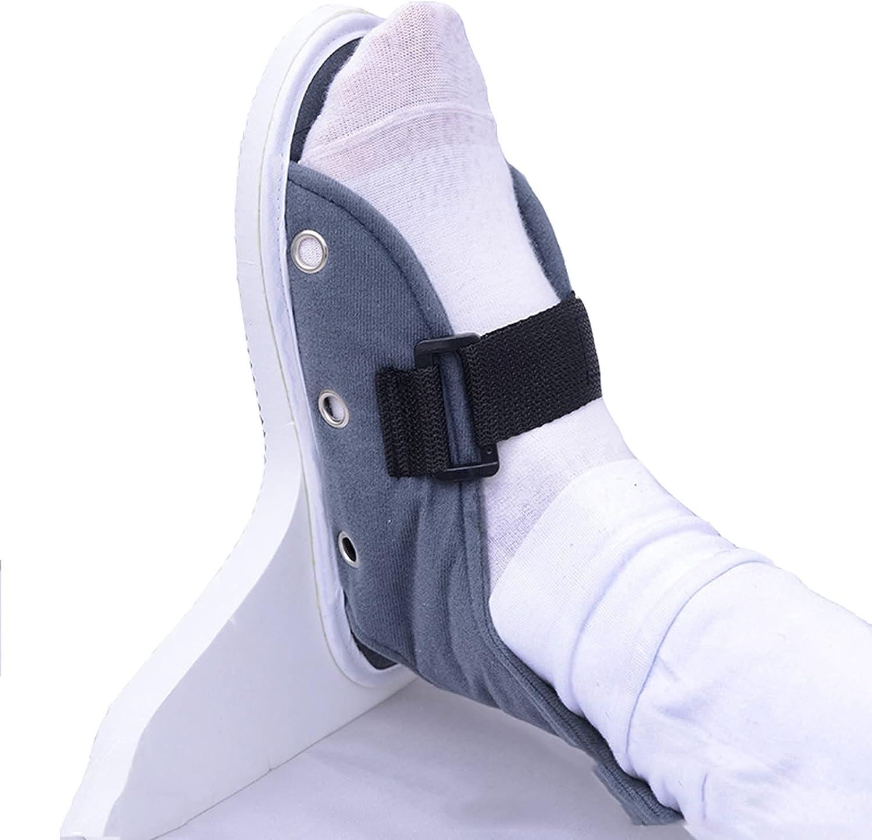Corrector de tobillo ortesis de caída de pie, protectores de talón ajustables, cojines de talón, estabilizador de soporte de tobillo para esguince de tobillo, ideal para pies hinchados, izquierdo y