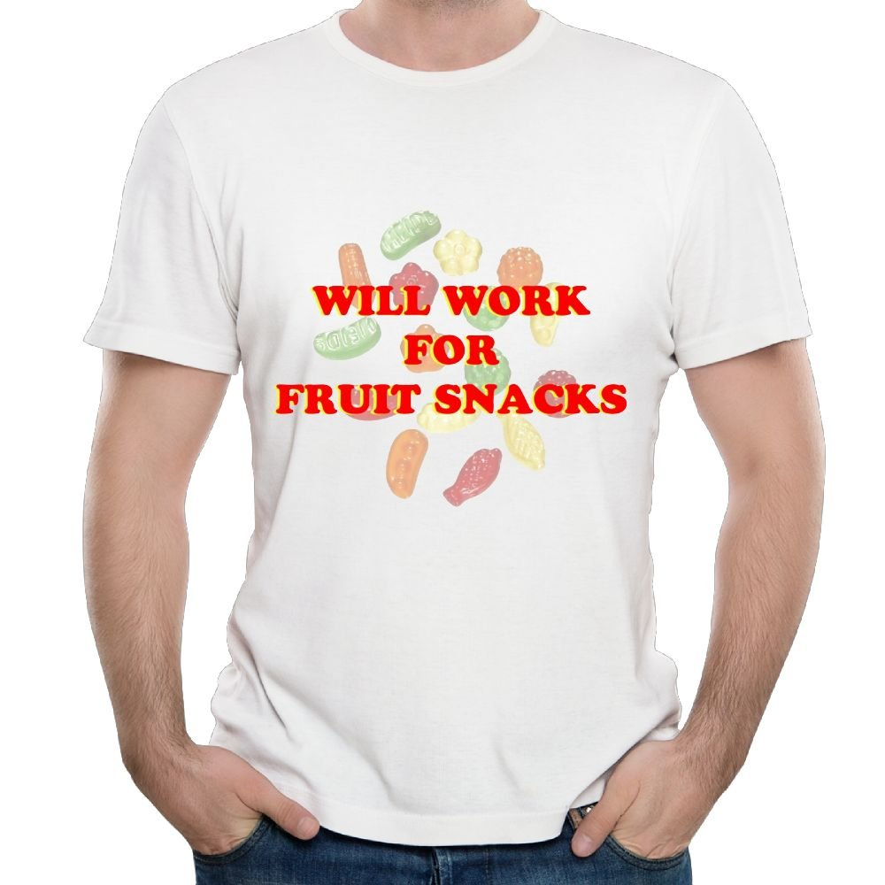 Han S Will Work For Fruit Snack Funny Tennis Tshirts Short Sleeve
