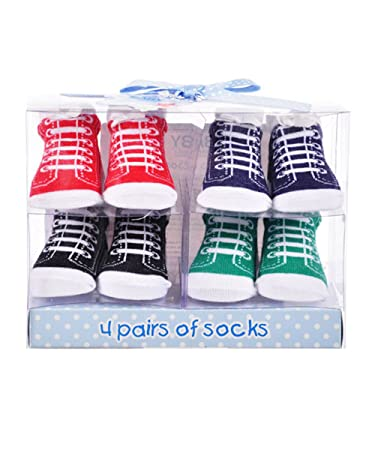 Amazon Com Baby Essentials Classic Sneaks Socks Gift Set Size 0