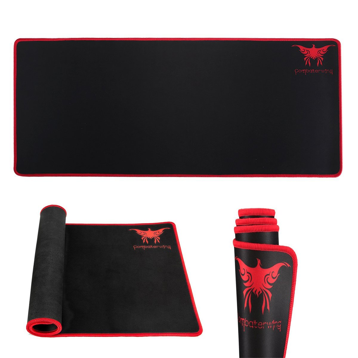 """Extended Gaming Mouse Mat,Za Kitane 27.56 X 11.81 X 0.08"""" Large Extension Mouse Pad,Functional Non Slip Rubber Base With Stitched Edges Mousepad,Waterproof Mousemat Perfect For Computer Desk,Gaming by Amazon"""
