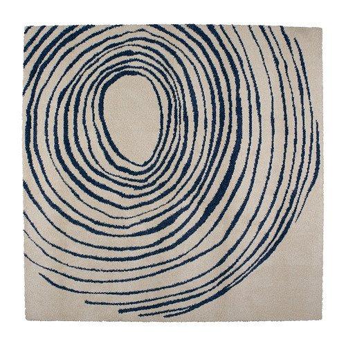 IKEA(イケア) EIVOR CIRKEL 00210357 ラグ パイル長, ホワイト/ブルー   B00C65C63Q