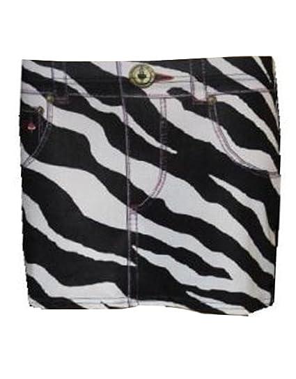 BLUE MAGIK Mini Falda diseño de Estampado de Cebra: Amazon.es ...
