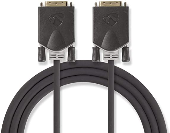 TALLA 2. Nedis CCBP32000AT20 Cable DVI | DVI-D Macho de 24+1 Pines - DVI-D Macho de 24+1 Pines | 2,0 m | Antracita